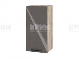 Горен шкаф за кухня Сити АРФ-Антрацит гланц-05-16 МДФ - 35 см.