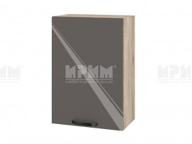 Горен шкаф за кухня Сити АРФ-Антрацит гланц-05-18 МДФ - 50 см.