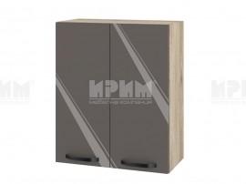 Горен шкаф за кухня Сити АРФ-Антрацит гланц-05-3 МДФ - 60 см.