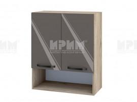 Горен шкаф за кухня с ниша Сити АРФ-Антрацит гланц-05-7 МДФ - 60 см.
