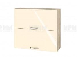 Горен шкаф за кухня Сити АРФ-Бежово гланц-05-12 МДФ - 80 см.
