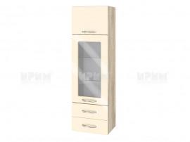 Горен шкаф за кухня Сити АРФ-Бежово гланц-05-201 МДФ - 40 см.