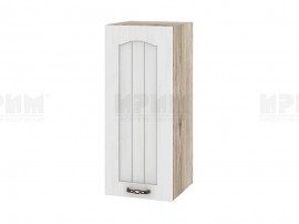Горен шкаф за кухня Сити АРФ-Бяло фладер-04-1 десен МДФ - 30 см.
