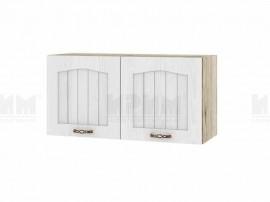 Горен шкаф за кухня Сити АРФ-Бяло фладер-04-108 МДФ - 80 см.