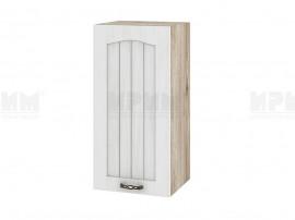 Горен шкаф за кухня Сити АРФ-Бяло фладер-04-16 десен МДФ - 35 см.