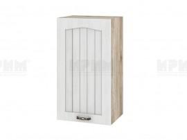 Горен шкаф за кухня Сити АРФ-Бяло фладер-04-2 десен МДФ - 40 см.