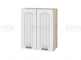 Горен шкаф за кухня Сити АРФ-Бяло фладер-04-3 МДФ - 60 см.