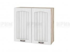 Горен шкаф за кухня Сити АРФ-Бяло фладер-04-4 МДФ - 80 см.