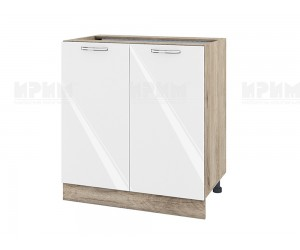 Долен шкаф за кухня Сити АРФ-Бяло гланц-05-23 МДФ - 80 см.
