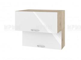 Горен шкаф за кухня Сити АРФ-Бяло гланц-05-107 МДФ - 80 см.