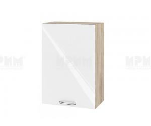 Горен шкаф за кухня Сити АРФ-Бяло гланц-05-18 МДФ - 50 см.