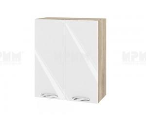 Горен шкаф за кухня Сити АРФ-Бяло гланц-05-3 МДФ - 60 см.