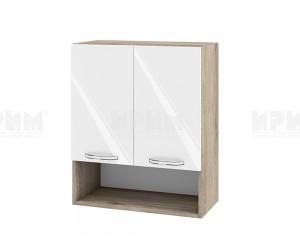 Горен шкаф за кухня Сити АРФ-Бяло гланц-05-7 МДФ - 60 см.