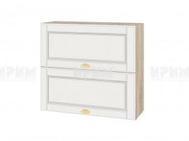 Горен шкаф за кухня Сити АРФ-Бяло мат-09-12 МДФ - 80 см.