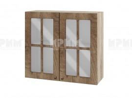 Горен шкаф за кухня Сити АРФ-Дъб натурал-06-104 МДФ - 80 см.