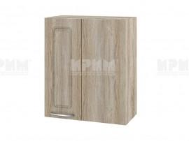 Горен кухненски шкаф за ъгъл Сити АРФ-Сонома-02-17 МДФ - 60 см.