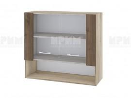 Горен кухненски шкаф Сити АРО-10 с витринни врат- 80 см.
