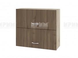Горен кухненски шкаф Сити АРО-12 с хоризонтални врати - 80 см.