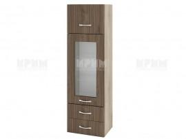 Горен кухненски шкаф Сити АРО-101 с витрина и чекмеджета - 40 см.