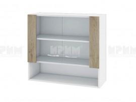 Горен кухненски шкаф Сити БДА-10 с витринни врат- 80 см.