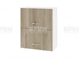 Горен кухненски шкаф Сити БДА-11 с хоризонтални врати - 60 см.