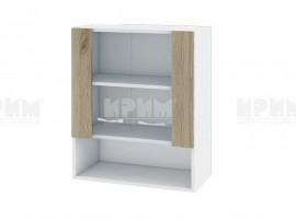 Горен кухненски шкаф с витрини Сити БДА-9 - 60 см.
