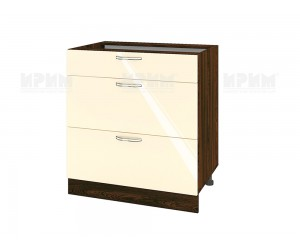 Долен шкаф за кухня Сити ВФ-Бежово гланц-05-120 МДФ - 80 см.