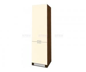 Колонен кухненски шкаф Сити ВФ-Бежово гланц-05-50 МДФ за хладилник - 60 см.