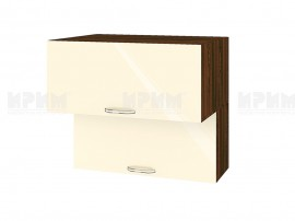 Горен шкаф за кухня Сити ВФ-Бежово гланц-05-107 МДФ - 80 см.