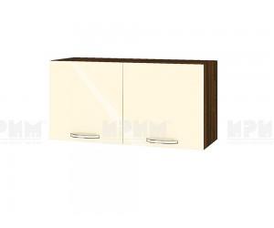 Горен шкаф за кухня Сити ВФ-Бежово гланц-05-108 МДФ - 80 см.