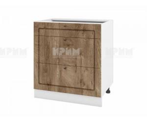 Долен шкаф за кухня Сити БФ-Дъб натурал-06-120 МДФ - 80 см.