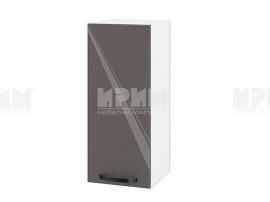 Горен шкаф за кухня Сити БФ-Антрацит гланц-05-1 МДФ - 30 см.