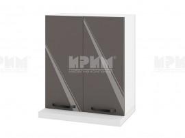 Горен кухненски шкаф за аспиратор БФ-Антрацит гланц-05-13 МДФ - 60 см.