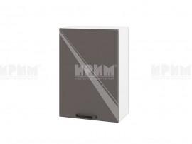 Горен шкаф за кухня Сити БФ-Антрацит гланц-05-18 МДФ - 50 см.