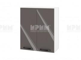Горен шкаф за кухня Сити БФ-Антрацит гланц-05-3 МДФ - 60 см.