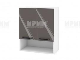 Горен шкаф за кухня с ниша Сити БФ-Антрацит гланц-05-7 МДФ - 60 см.