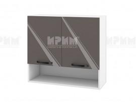Горен шкаф за кухня с ниша Сити БФ-Антрацит гланц-05-8 МДФ - 80 см.