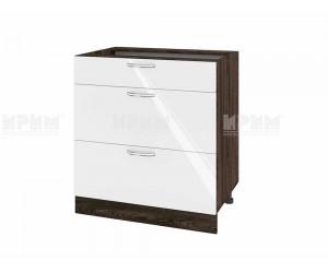 Долен шкаф за кухня Сити ВФ-Бяло гланц-05-120 МДФ - 80 см.