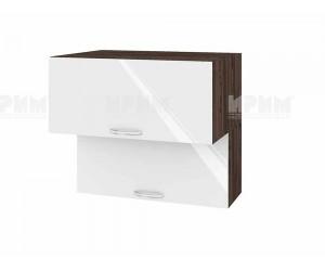 Горен шкаф за кухня Сити ВФ-Бяло гланц-05-107 МДФ - 80 см.