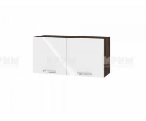 Горен шкаф за кухня Сити ВФ-Бяло гланц-05-108 МДФ - 80 см.