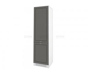 Колонен кухненски шкаф Сити БФ-Цимент мат-06-50 МДФ за хладилник - 60 см.