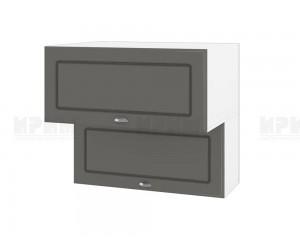 Горен шкаф за кухня Сити БФ-Цимент мат-06-107 МДФ - 80 см.