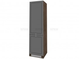 Колонен кухненски шкаф Сити ВФ-Цимент мат-06-50 МДФ за хладилник - 60 см.
