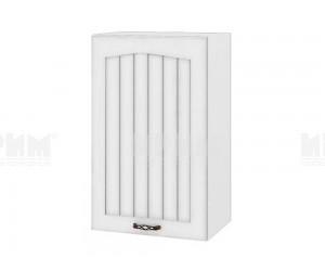 Горен шкаф за кухня Сити БФ-Бяло фладер-04-6 десен МДФ - 45 см.