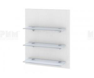 Кухненска етажерка за стена Сити Ф-Бяло фладер-04-106 МДФ - 60 см.