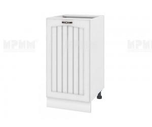 Долен шкаф за кухня Сити БФ-Бяло фладер-04-28 десен МДФ - 45 см.