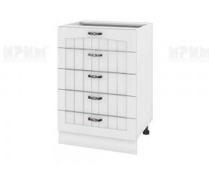 Долен шкаф за кухня Сити БФ-Бяло фладер-04-29 МДФ - 60 см.
