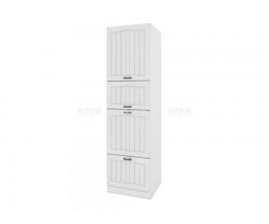 Колонен кухненски шкаф Сити БФ-Бяло фладер-04-48 десен МДФ - 60 см.