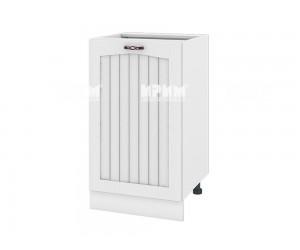 Долен шкаф за кухня Сити БФ-Бяло фладер-04-43 десен МДФ - 50 см.