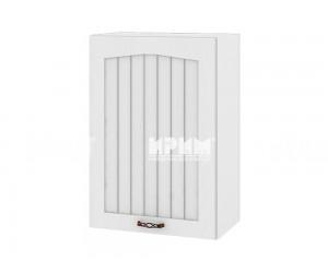 Горен шкаф за кухня Сити БФ-Бяло фладер-04-68 ляв МДФ - 50 см.